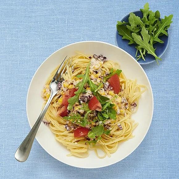 Spaghetti med tonfiskröra