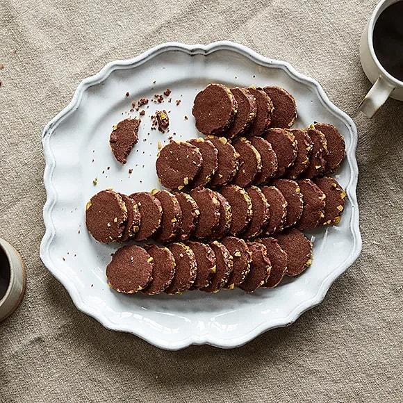 Chokladkakor med pistage