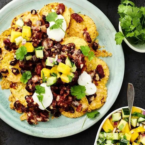 Gratinerade nachos med mangosalsa
