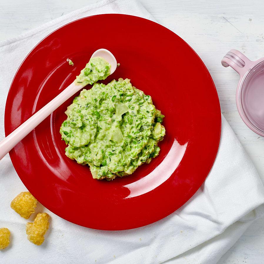 Lax med ärt- och potatismos