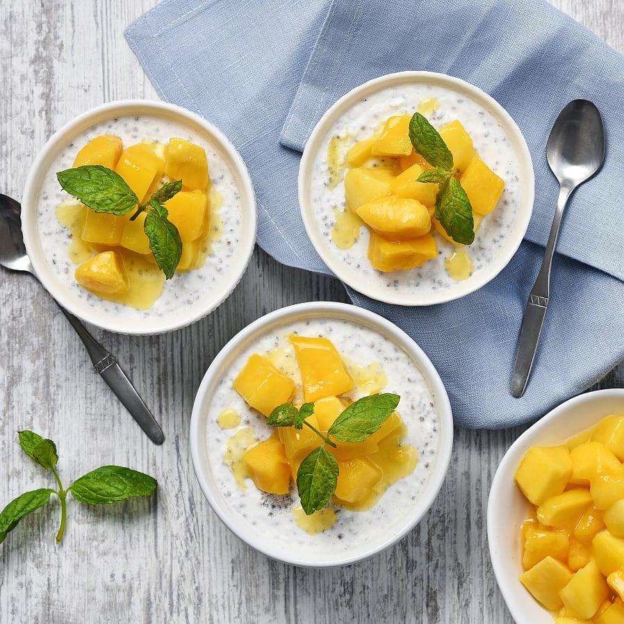 Chiapudding med kokos och mango