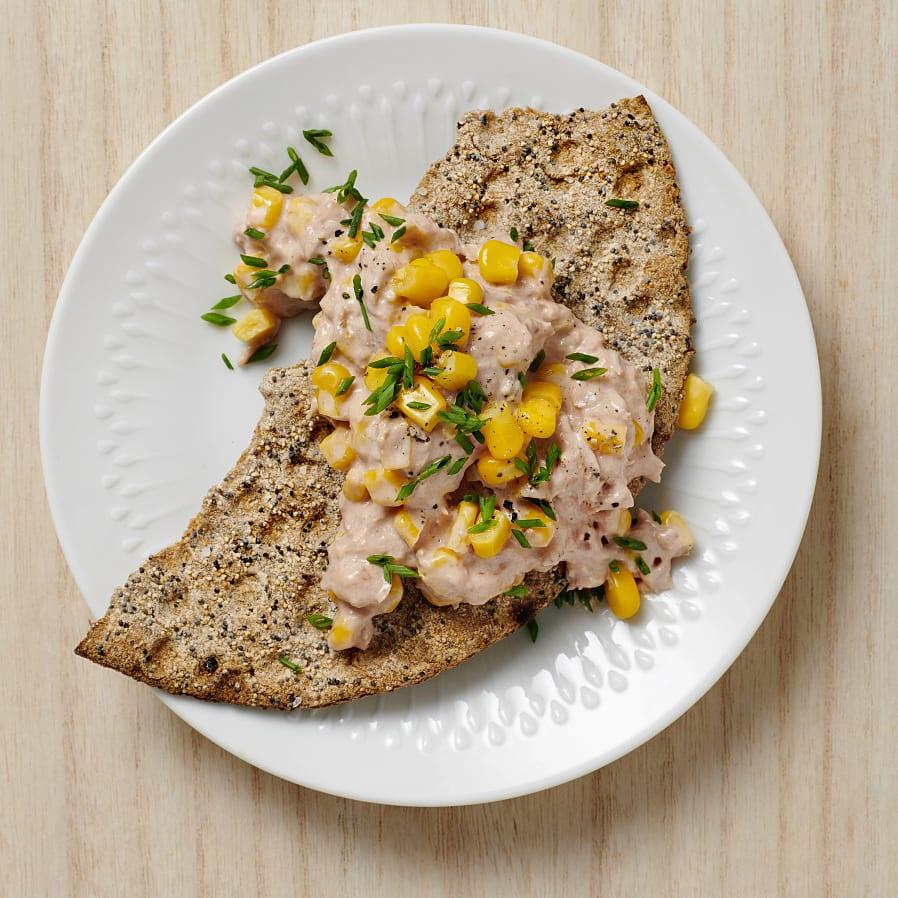 Knäckebröd med tonfiskröra