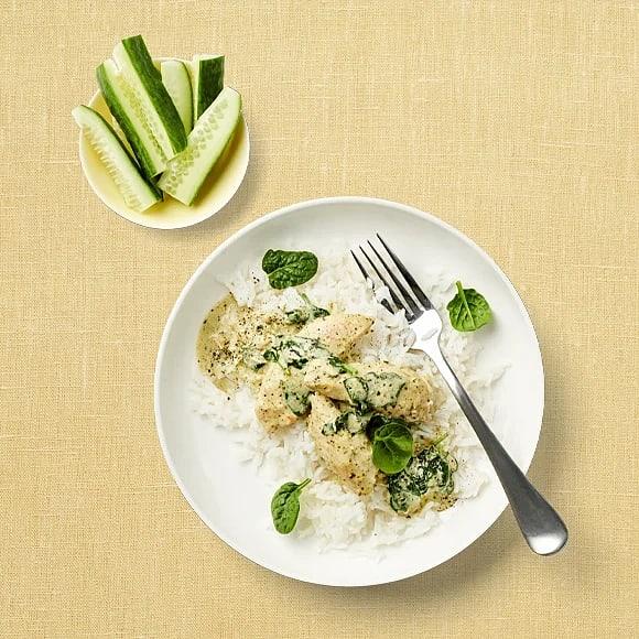 Snabb kycklinggryta med ris
