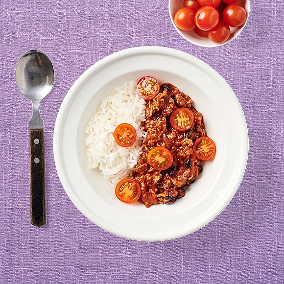 Chili con carne med tomater