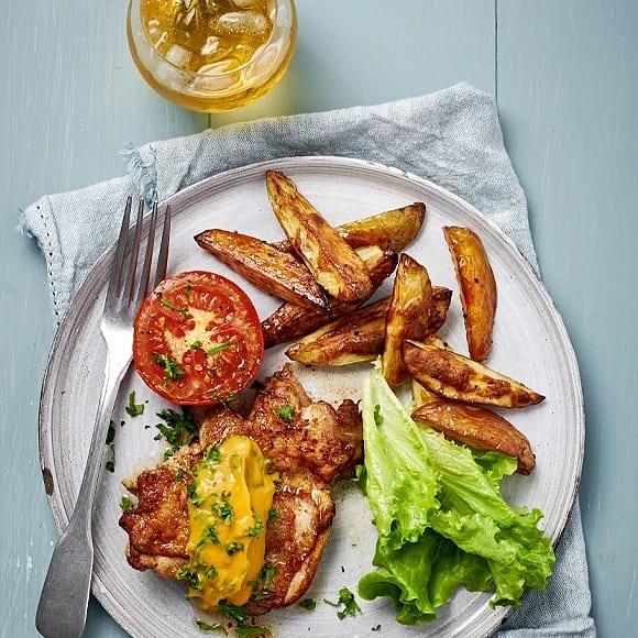 Kycklingfilé med persilje- och  sötpotatisröra
