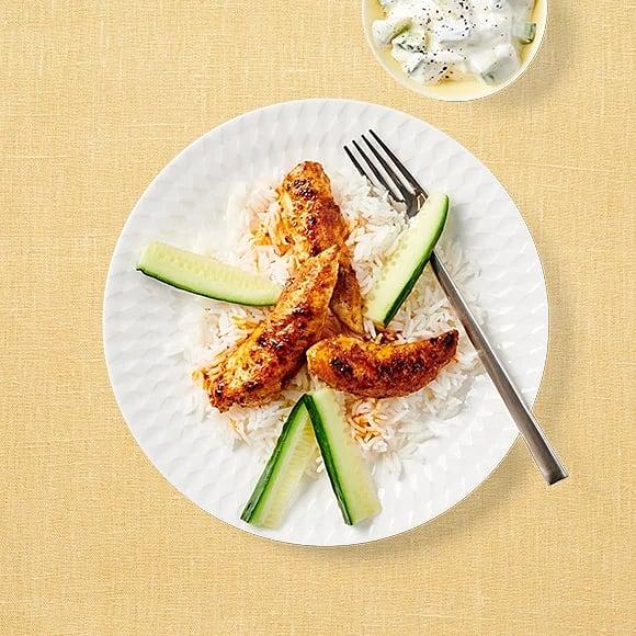 Chicken tandoori med gurkröra