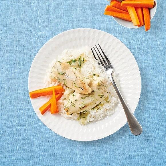 Fiskgratäng med dill- och citronsås