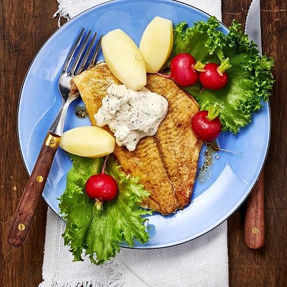 Spätta menuière med gubbröra