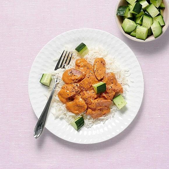Krämig salsicciagryta med gurka