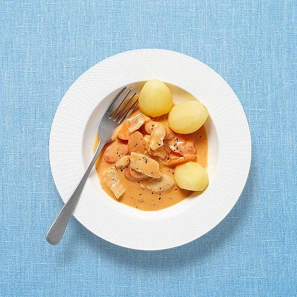 Snabb torskgryta med morötter