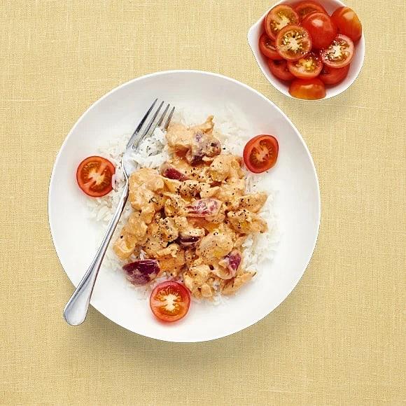 Krämig kycklinggryta med ris