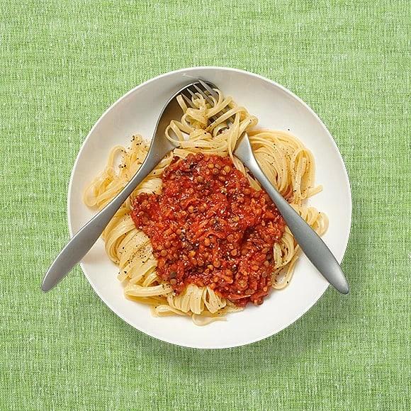 Linguine med tomat- och linssås