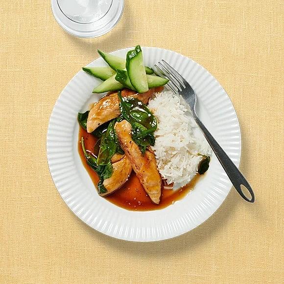 Chicken teriyaki med gurka