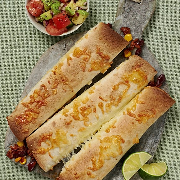 Enchiladas med avokadosalsa