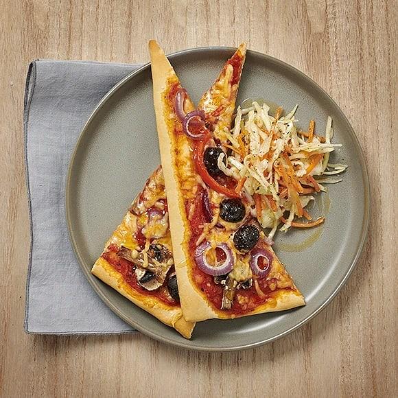Oliv- och paprikapizza