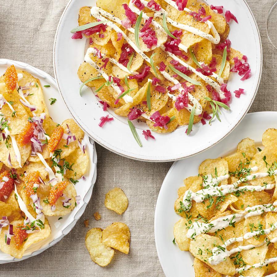 Chips med topping