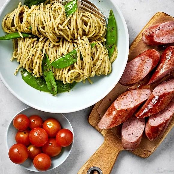 Salsiccia med pastapesto