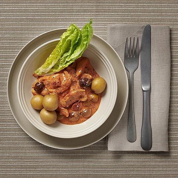 Kycklinggryta med oliver