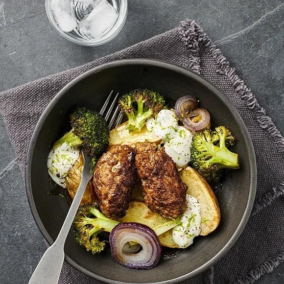 Kryddiga järpar med rostad broccoli