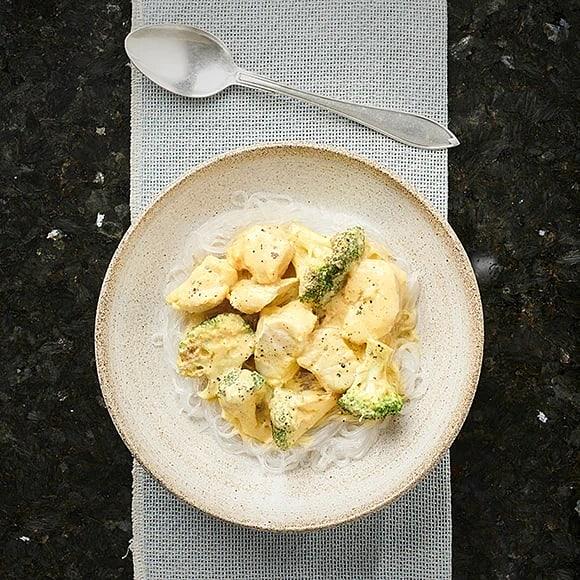 Fiskgryta med ingefära och curry