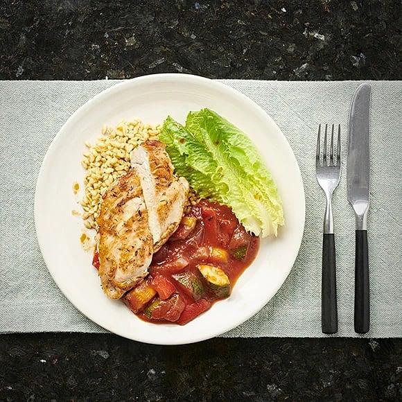 Kyckling med ratatouille och oregano