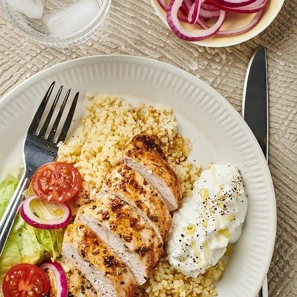 Kycklingfilé med fetayoghurt