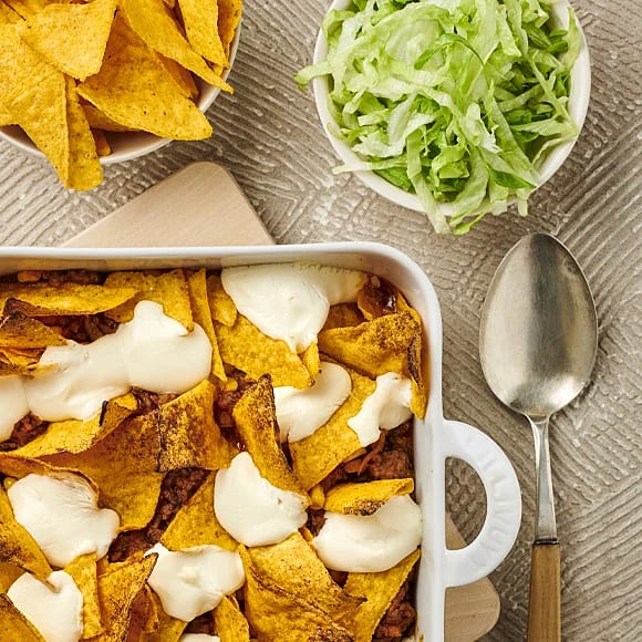 Tacogratäng med tortillachips
