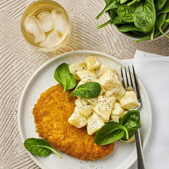 Vegoschnitzel med potatissallad