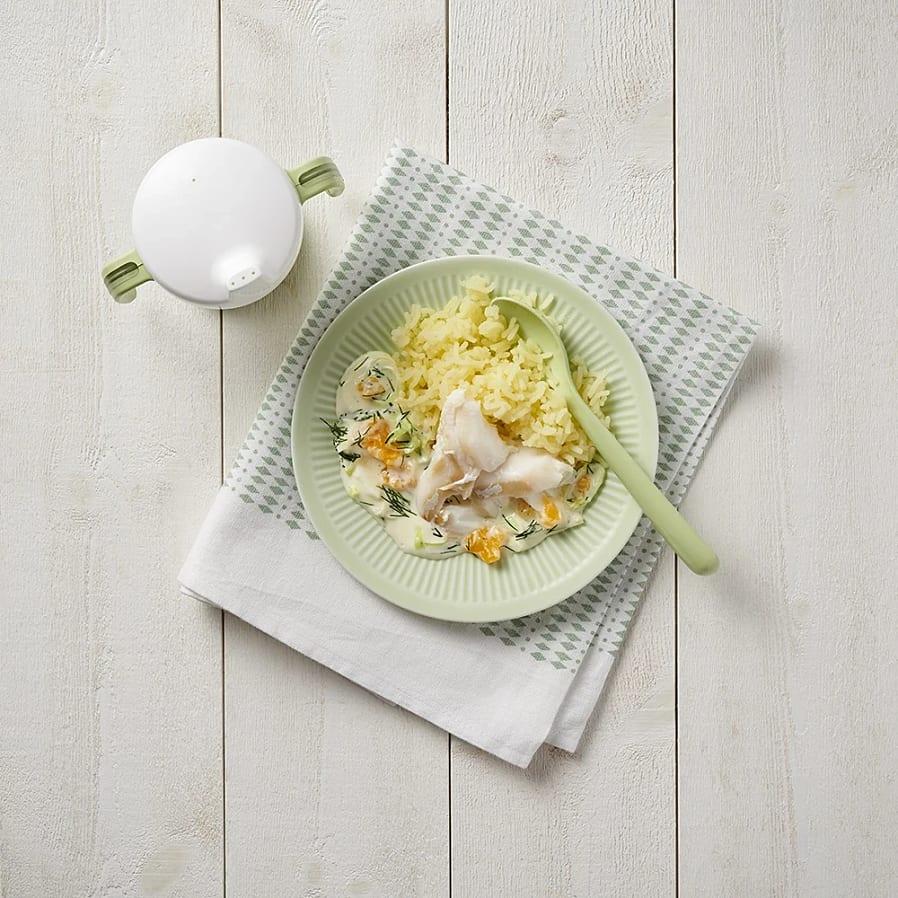 Torsk med äggsås och pressad potatis