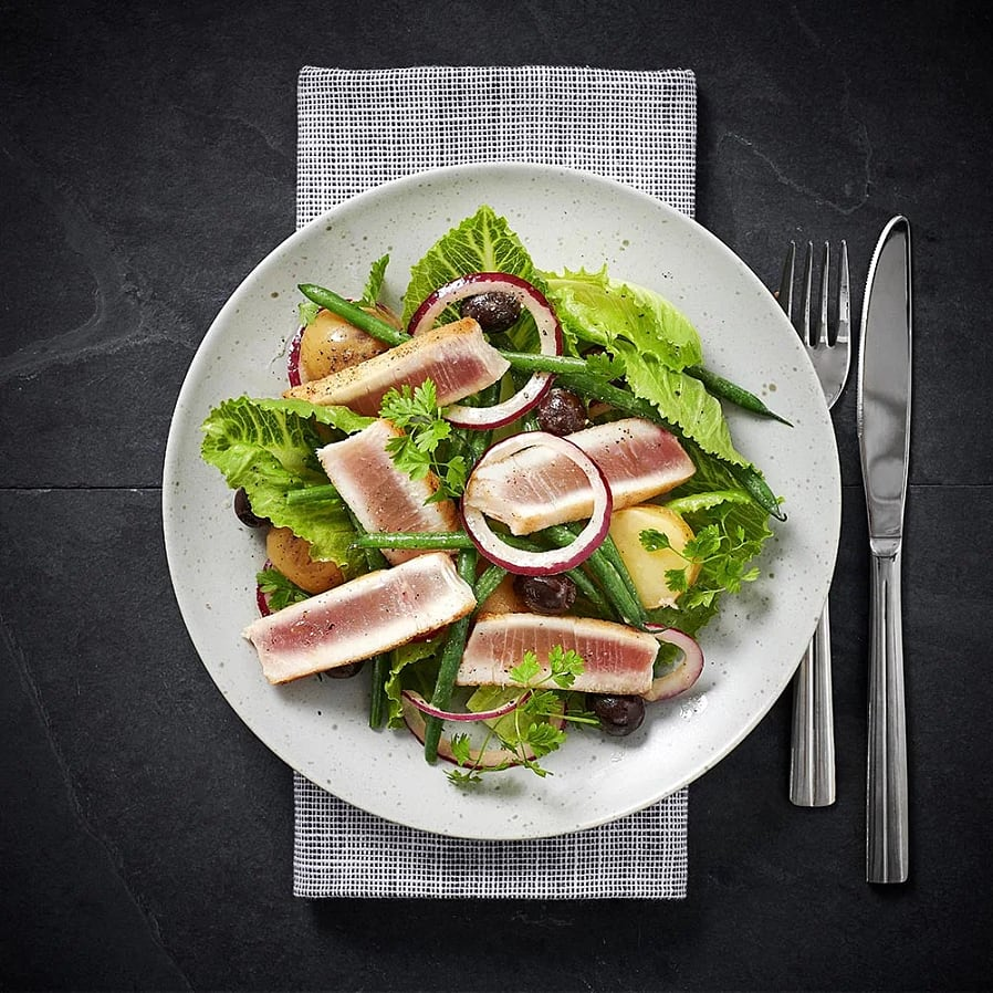 Tonfisk med bönsallad