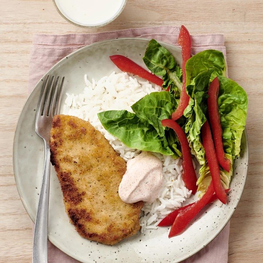 Fisk-ish med kryddyoghurt