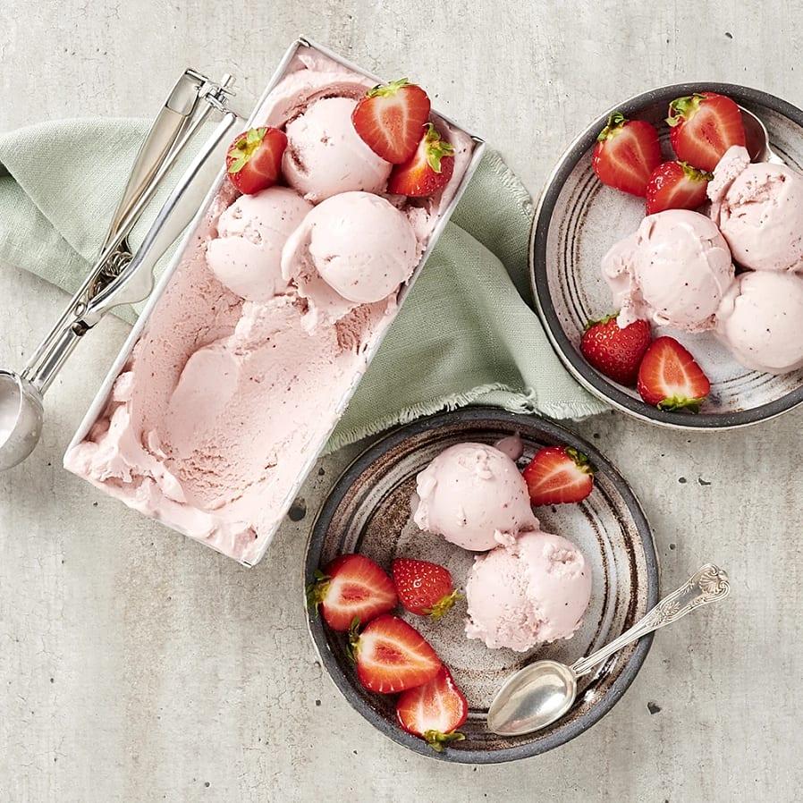 Hemmagjord jordgubbsglass