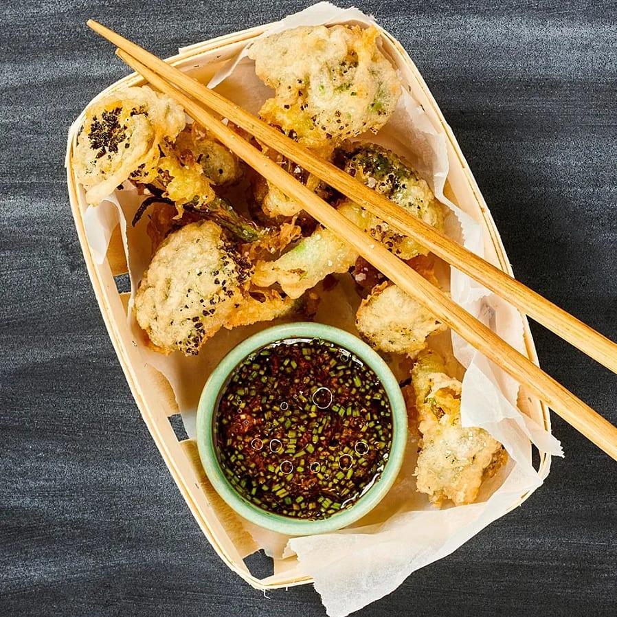 Broccoli-tempura med sojadipp