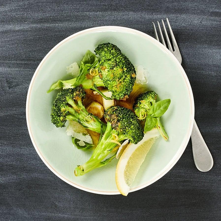 Råstekt broccoli med brynt smör och vitlök
