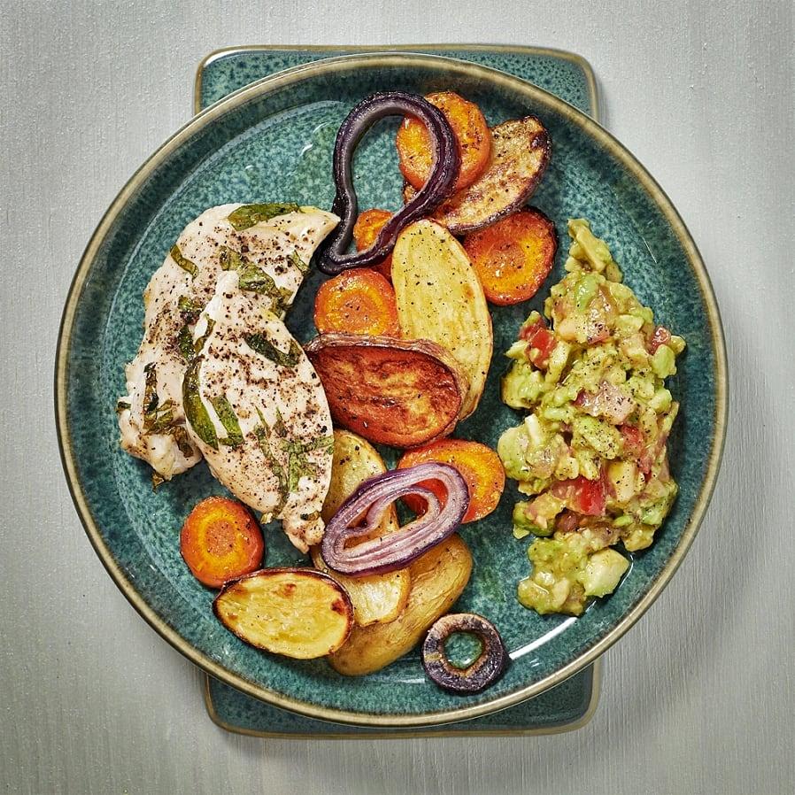 Kycklingfilé med avokadosalsa