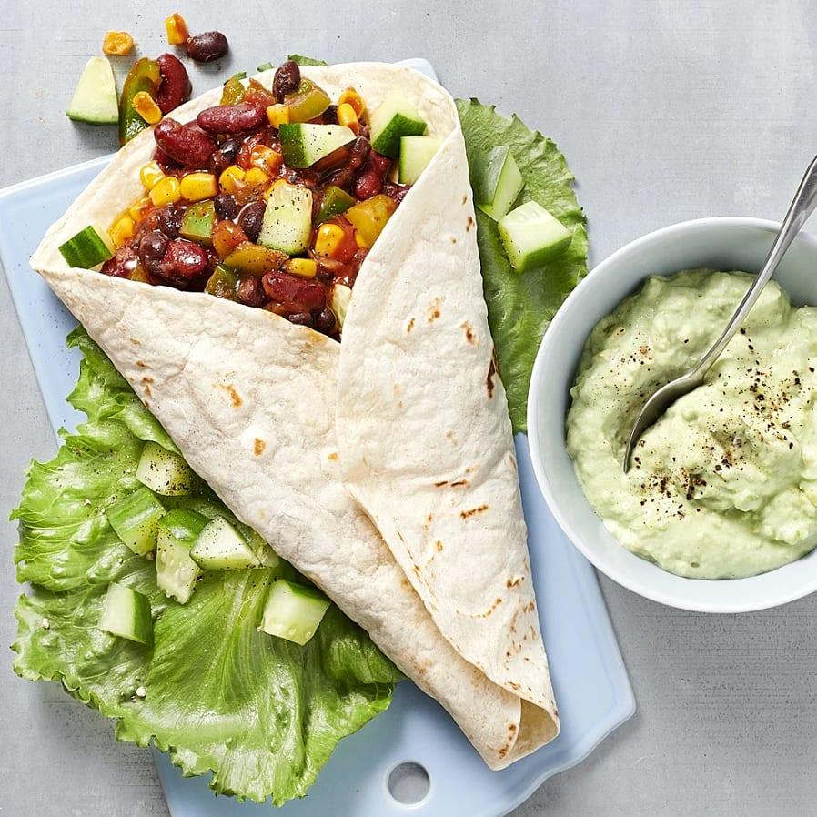 Tortillarulle med guacamole