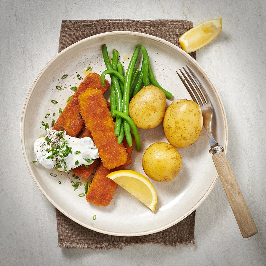 Fisk-ish med gurk- och gräslökssås
