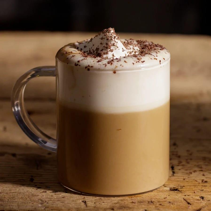 Mocca latte med vit choklad