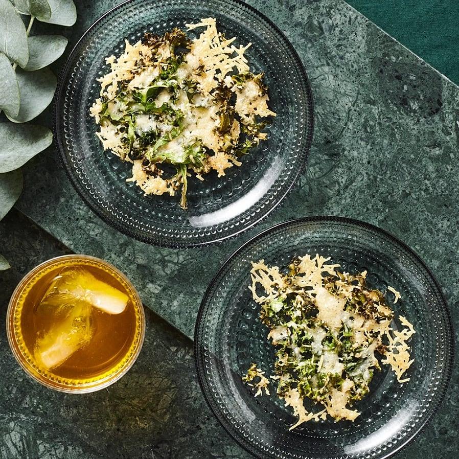 Grönkål- och parmesanchips