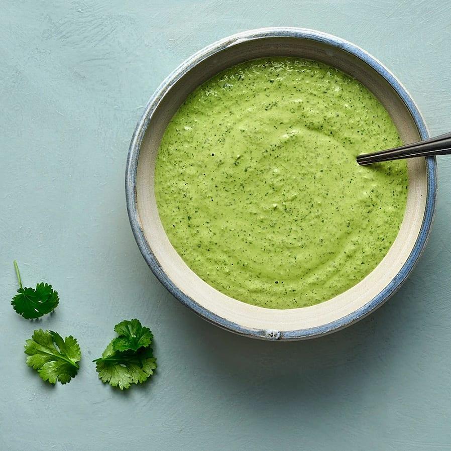 Grön tahinisås
