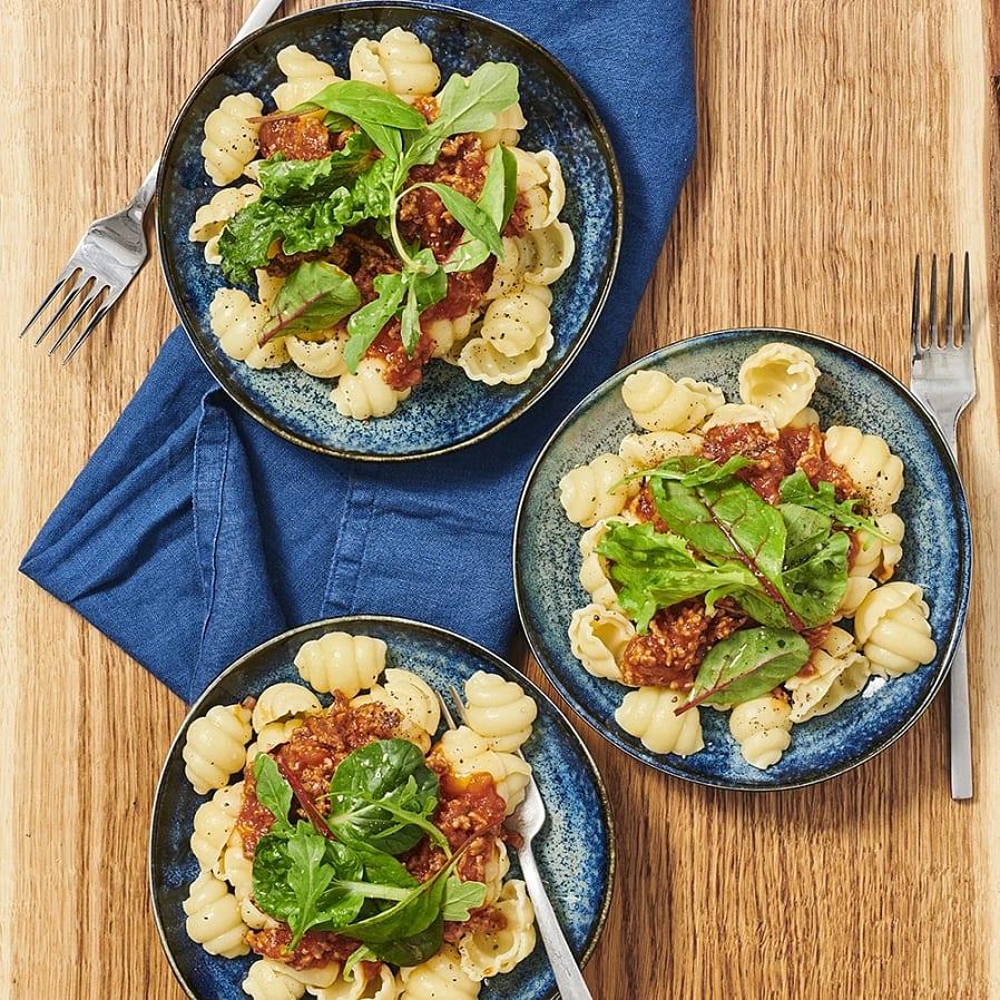Gnocchi med köttfärssås