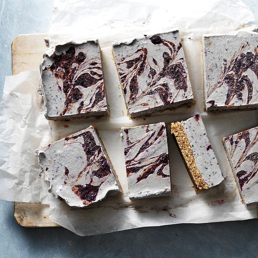 No bake cheesecake med blåbär