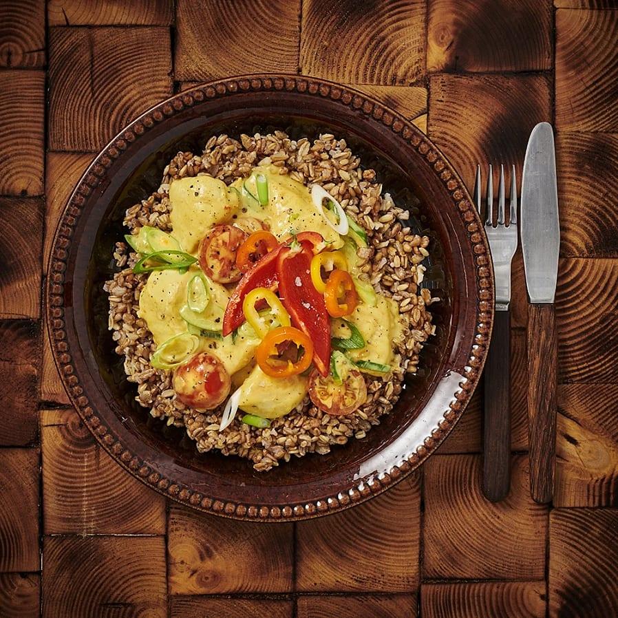 Kycklinggryta med curry och mango