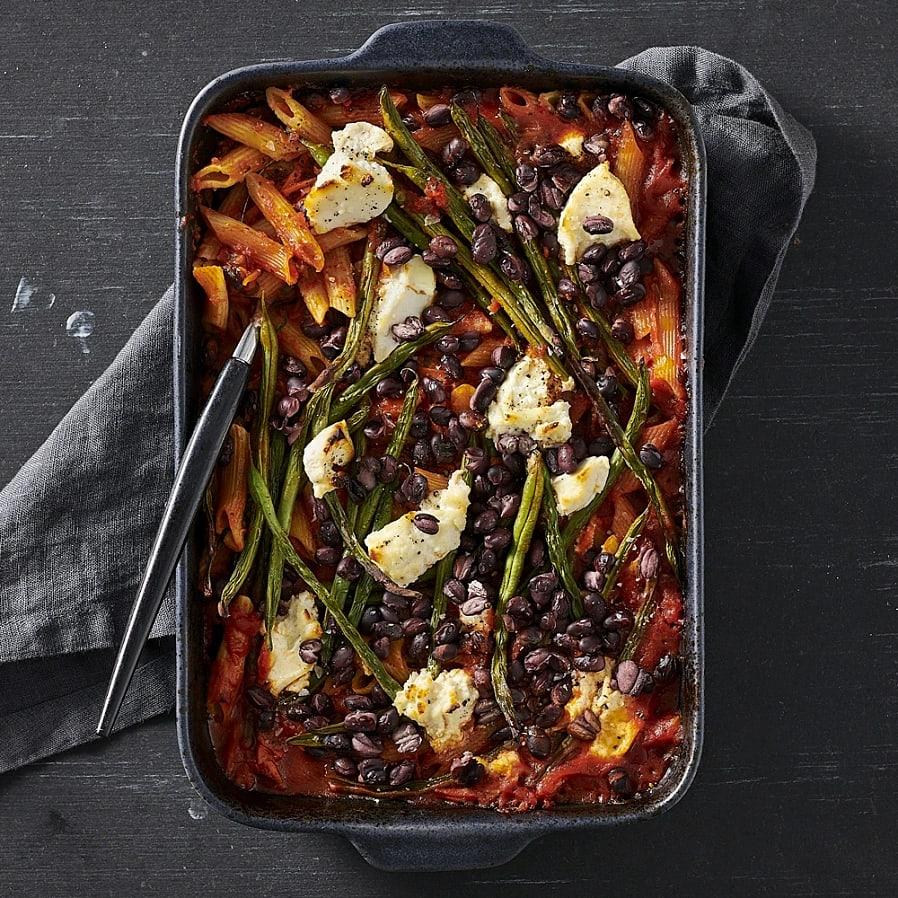 Allt i en form - Pastagratäng med ricotta och tomat