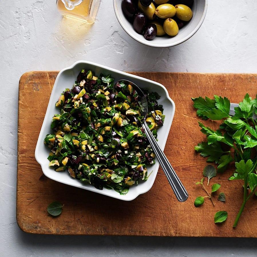 Gremolata med oliver