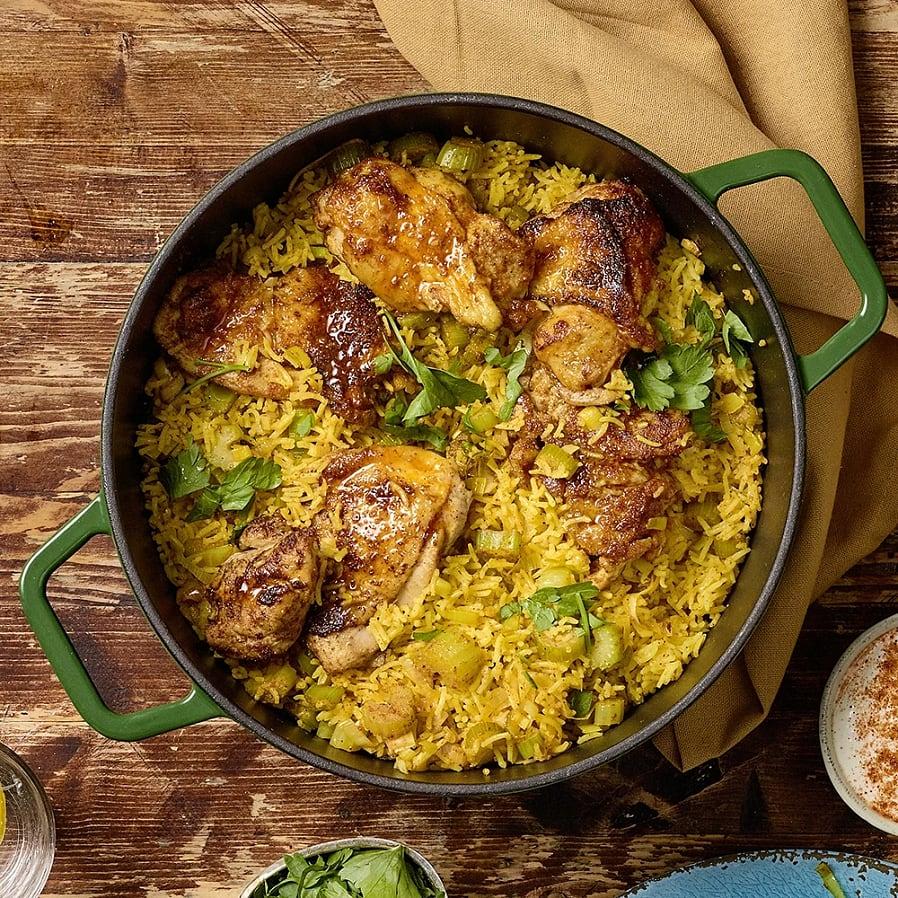 Kryddig one pot kyckling med ris