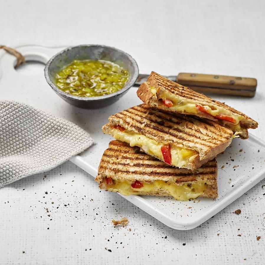 Toast med vegansk ost