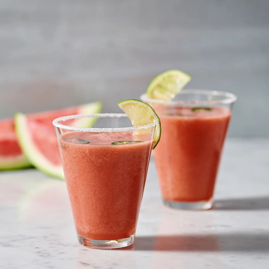 Watermelon spicy margarita