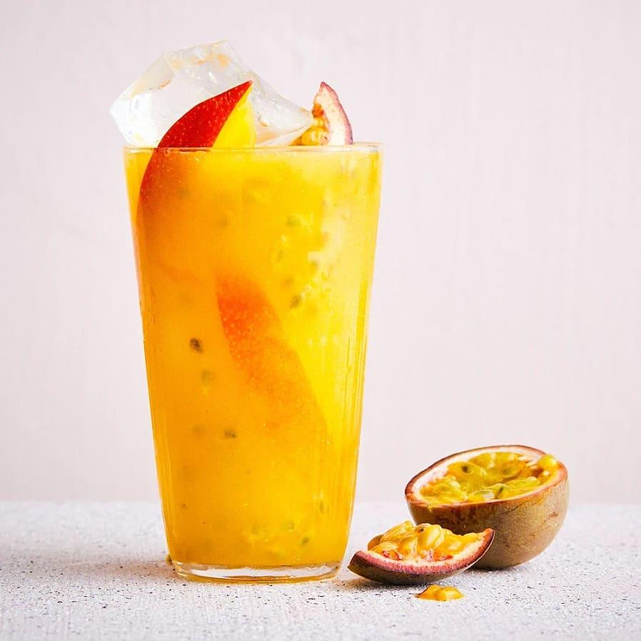 Iste med mango och passionsfrukt