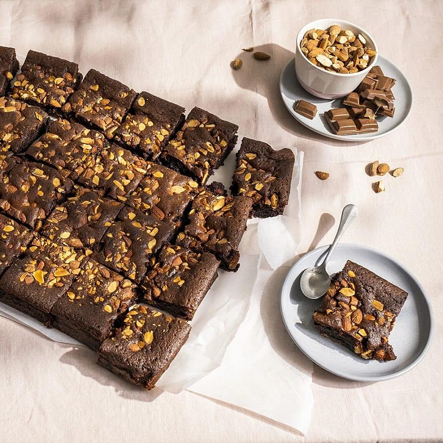 Brownie i långpanna